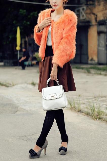 Elastic-Hem-PU-Edge-Faux-Fur-Coat